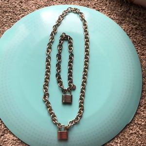 Tiffany & Co. Accessories - Tiffany necklace with silver lock!